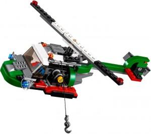 En helikopter med en krok, inget att hänga upp sig på...