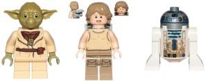 Yoda, Luke och R2-D2