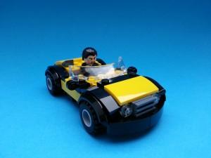 Lysande bil med hållbar design