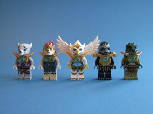 Fem av åtta stammar är representerade (Worriz, Laval, Eris, ??? och Cragger)