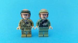 Den äldre Rebel Commandon till höger har dräkt i sand green medan den nya går i olive green