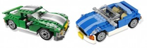 En grön Street Speeder och en blå Roadster