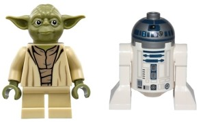 Yoda och den kanske vanligaste minifiguren som finns...